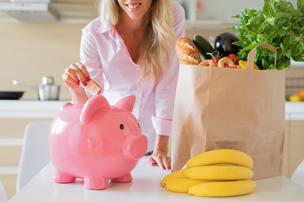 Groceries and Piggy Bank