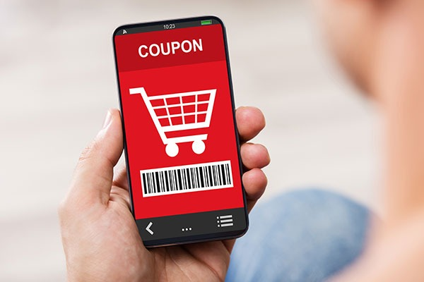 Cell Phone with Coupon